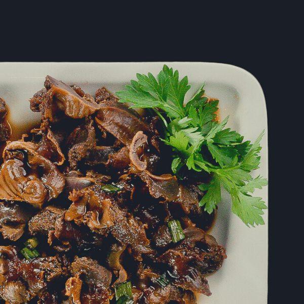 6 - Куриные желудочки в соевом соусе