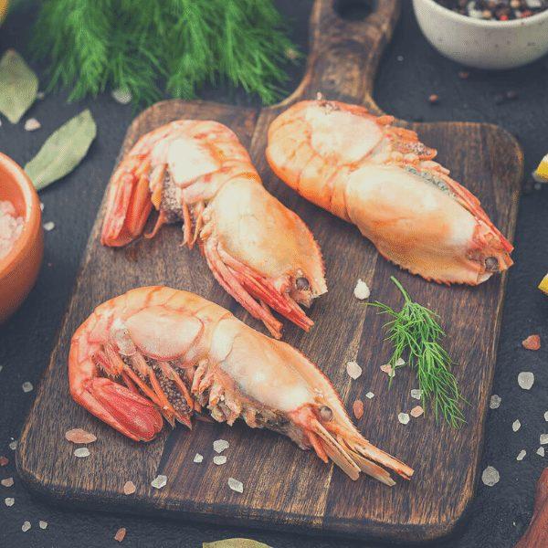 1 6 - Сырая гребенчатая креветка